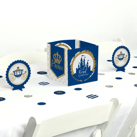Royal Prince Charming - Baby Shower or Birthday Party Centerpiece & Table Decoration Kit](Prince Theme Decorations)