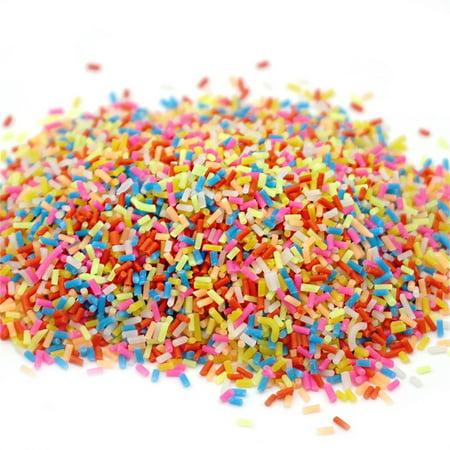 Colorful Styrofoam Sugar Sprinkles Decorative Slime DIY Craft For Crunchy Slime