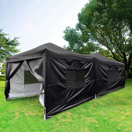 Quictent Privacy 10x20 EZ Pop Up Canopy Party Tent Outdoor Gazebo Waterproof with Sidewalls and Wheeled Bag - Bio Wheel Canopy