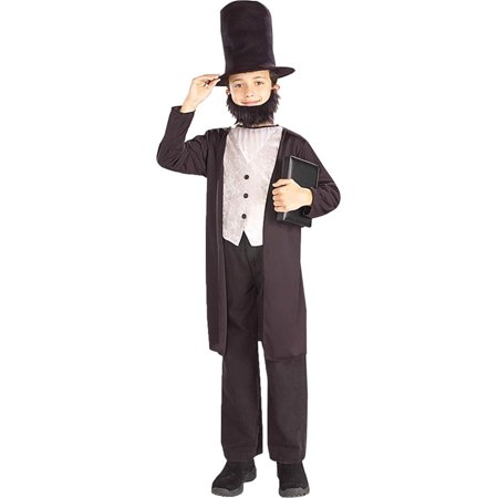 Morris costumes FM58268MD Abraham Lincoln Child 8-10 - Abraham Lincoln Costume For Kids