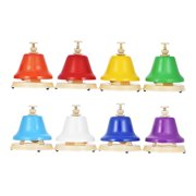 Colorful 8 Note Hand Bell Set Early Musical Educational Instrument Toy for Children Kids Student
