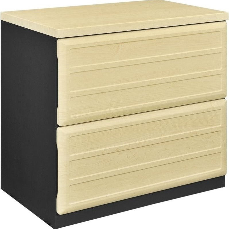 Altra Furniture Benjamin 2 Drawer File Cabinet in Natural and Gray