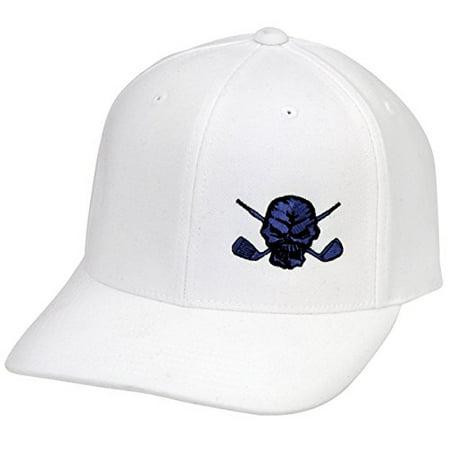 Lucky 13 Golf Hat by Tattoo Golf - White/Blue (Tattoo Golf Hat)