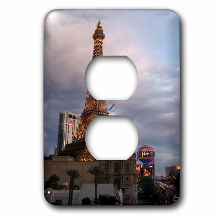 3dRose Eiffel Tower Building in Las Vegas, 2 Plug Outlet Cover (Best Vegas Outlets)