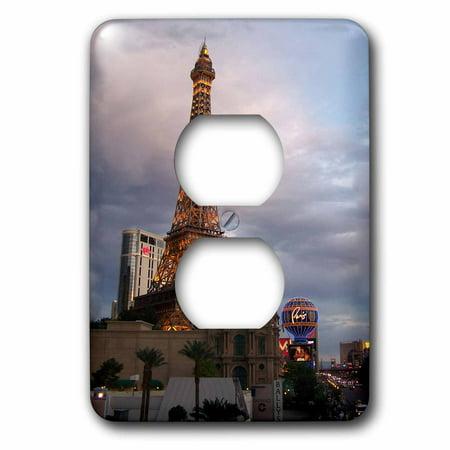3dRose Eiffel Tower Building in Las Vegas, 2 Plug Outlet Cover (Die Outlets In Las Vegas)