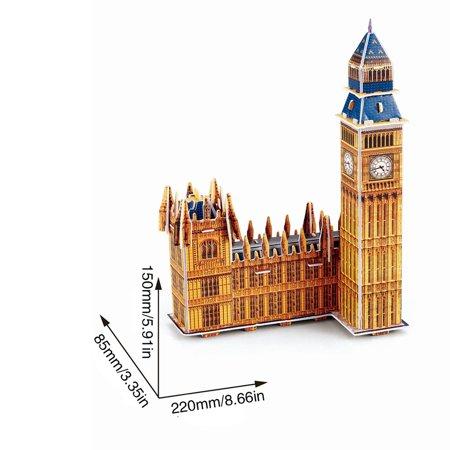 Big Ben 3D Three-Dimensional Puzzle Educational Toys Children Puzzle - image 6 de 6