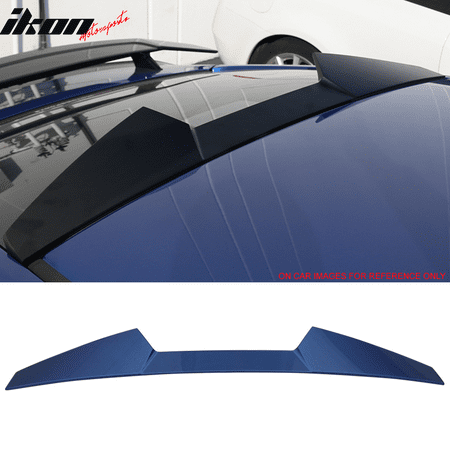 16-18 Honda Civic X 10th Gen Coupe 2Dr V Style Roof Spoiler Wing - ABS Carbon Fiber Roof Spoiler Wing