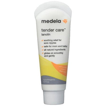 Medela Tender Care Lanolin Soothing relief for sore nipples - 0.3 oz (Pack of 3 Tube) - Medela Tender Care Lanolin