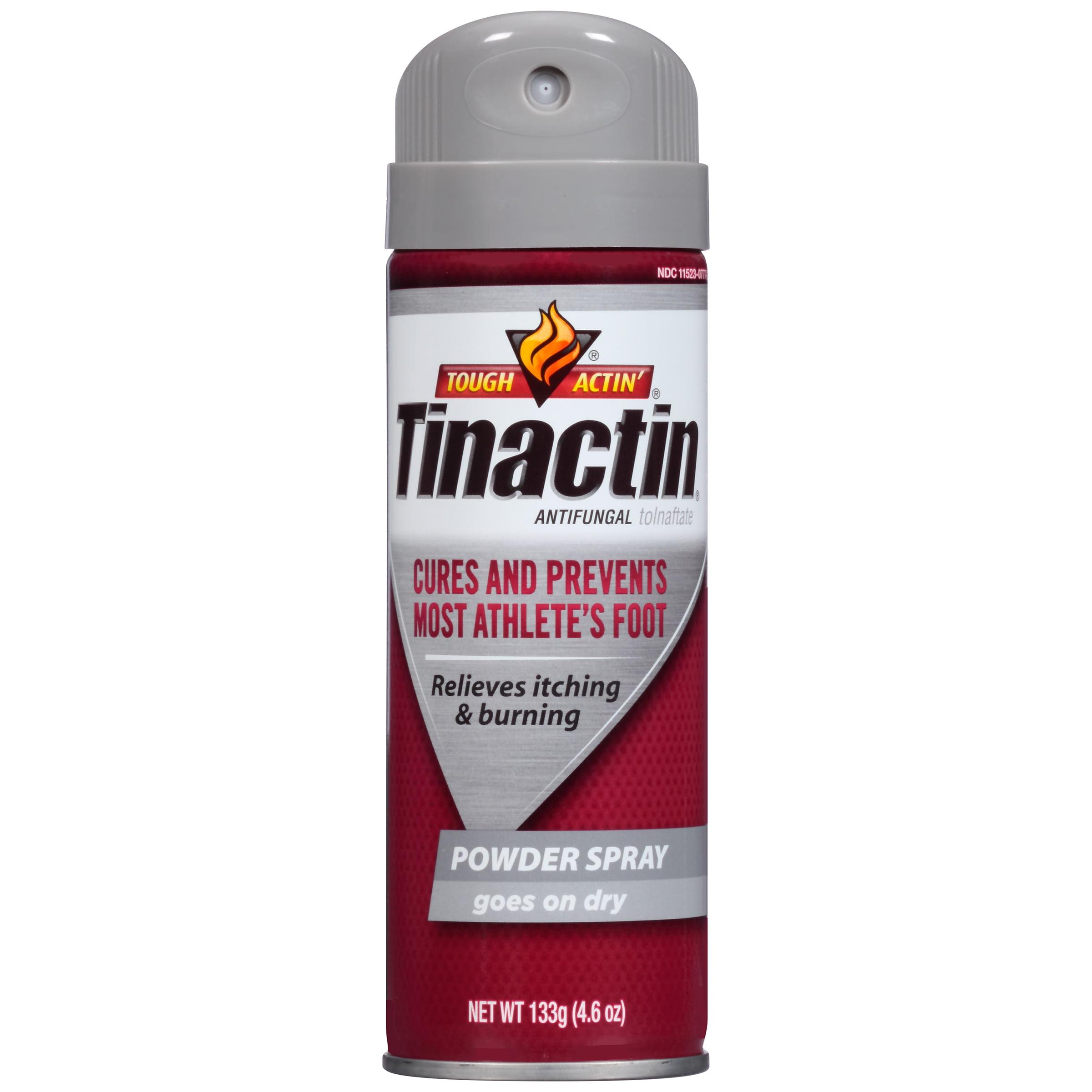 2 Pack Tinactin Tolnaftate Antifungal Athlete's Foot Powder Spray 4.6 Ounce Each