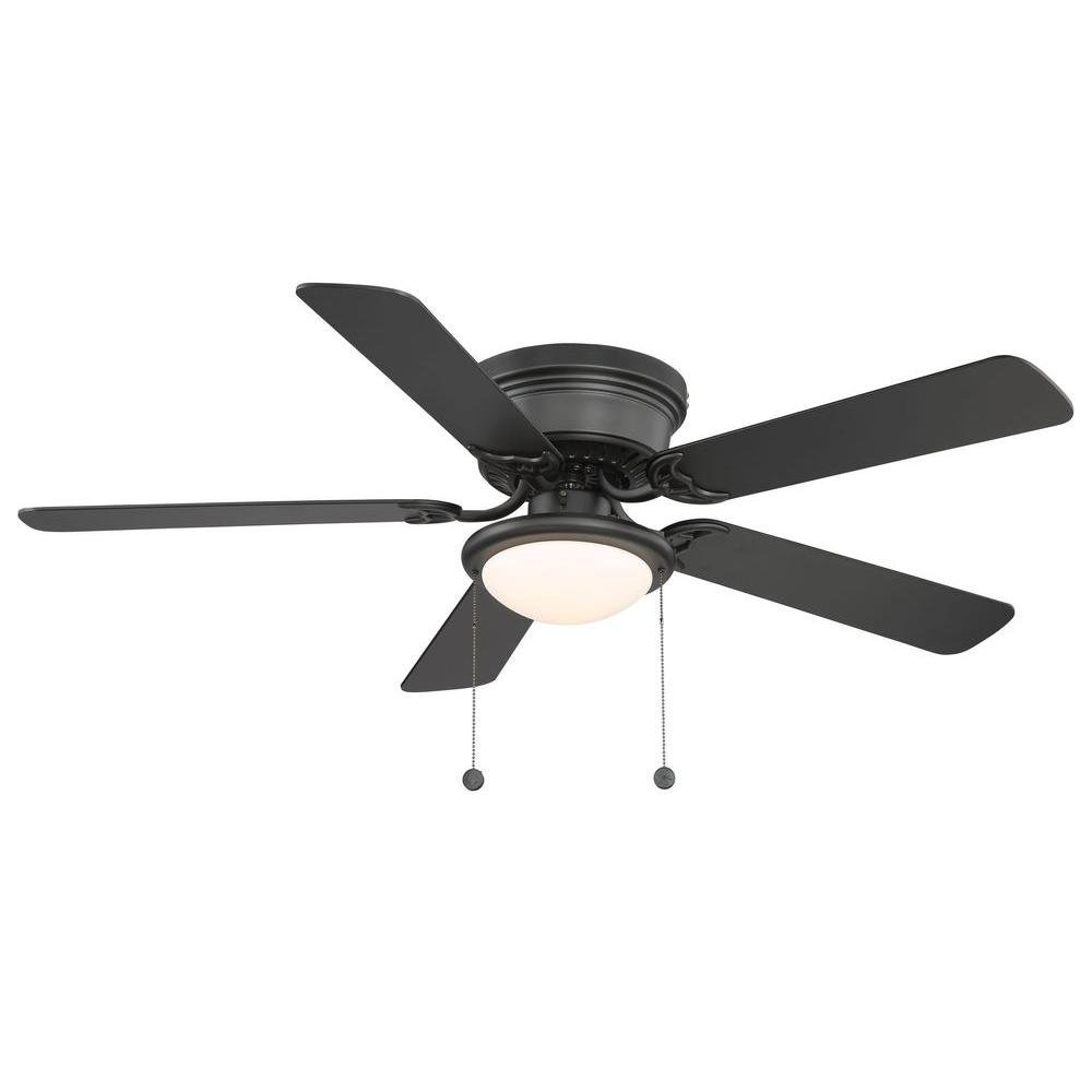 Black Ceiling Fan With Light By Hampton Bay