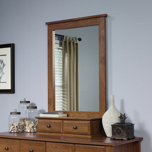 Sauder Shoal Creek Mirror, Oiled Oak Finish