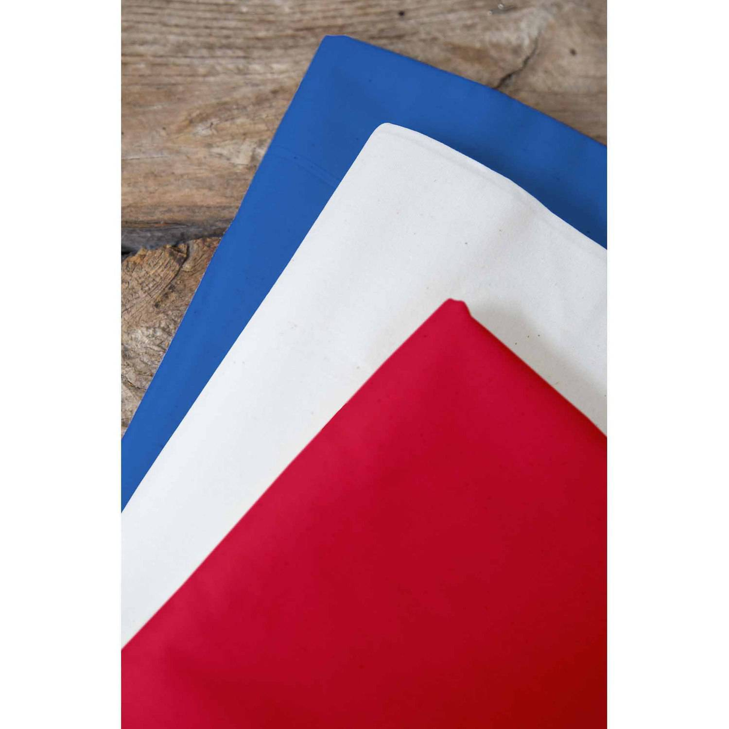 "Uncle Sam Palencia Broadcloth Fabric Bundle, Skipper Blue-White-Poppy Red, 44/45"" Width, 2-yd Cuts"