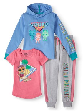 L.O.L. Surprise! Graphic Hoodie, Tee and Sweatpants, 3-Piece Outfit Set (Little Girls & Big Girls)