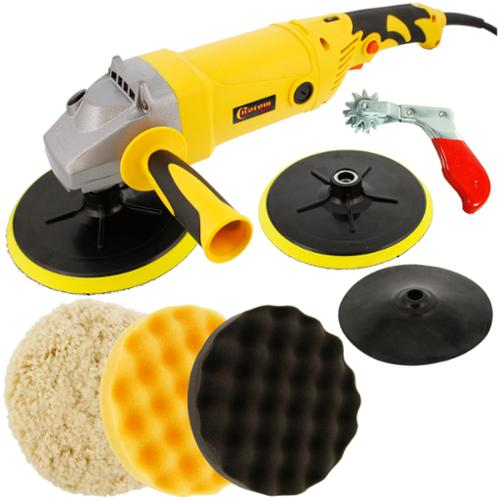 """Variable Speed Polisher with a Professional 3 Pad Buffing and Polishing Kit; 2 8""""... by TCP Global Corp"""