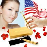 24 karat gold Beauty Bar Golden Skin Care Lift Anti-Aging Facial Massage Platinum Pulse Roller Massager - Gold