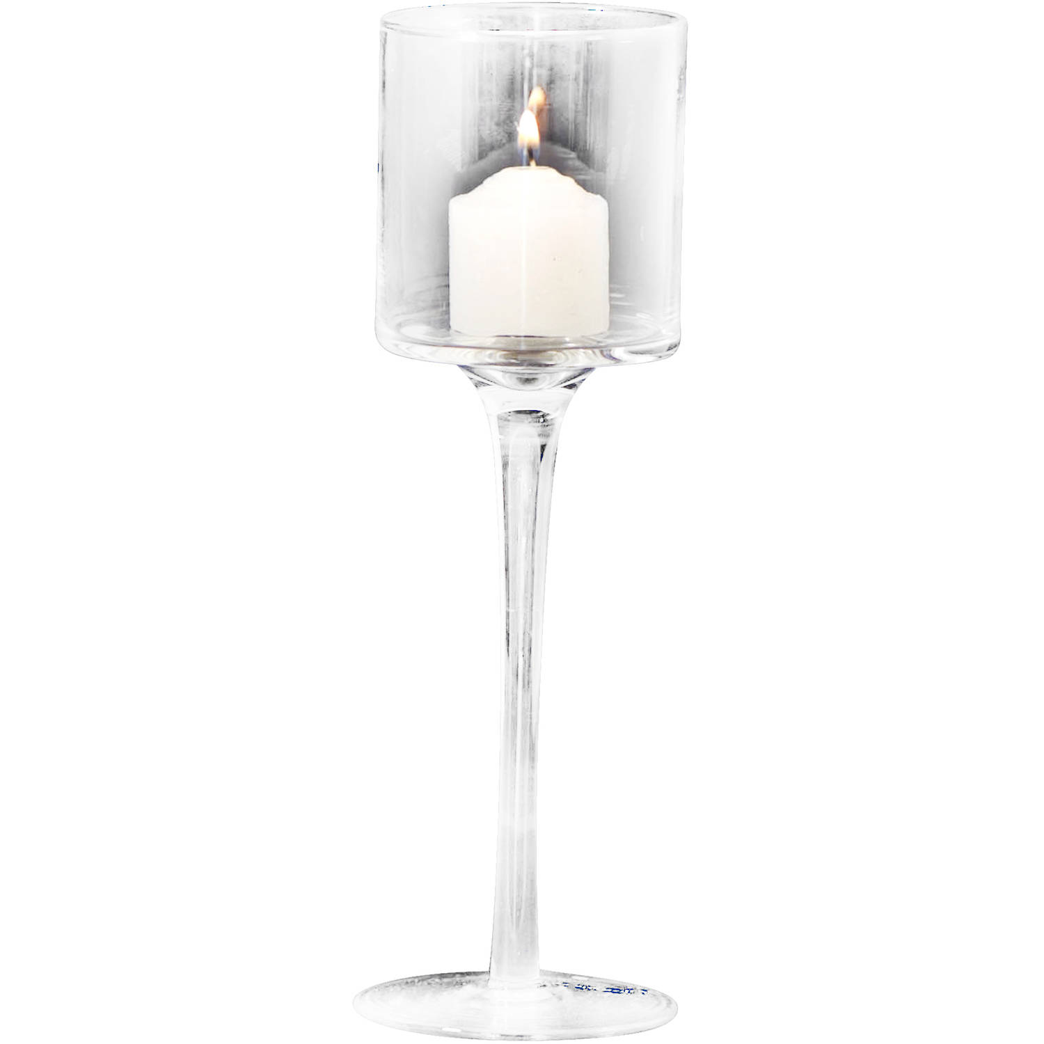 """9"""" Crystal Flute Candle Holder by Generic"""