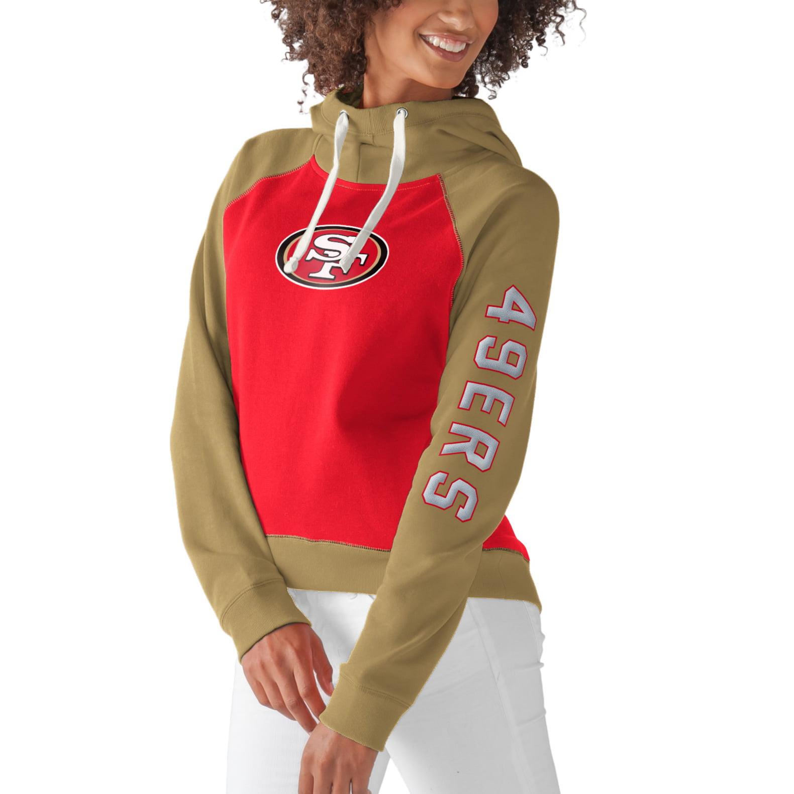San Francisco 49ers G-III 4Her by Carl Banks Women's Scrimmage Pullover Hoodie - Scarlet