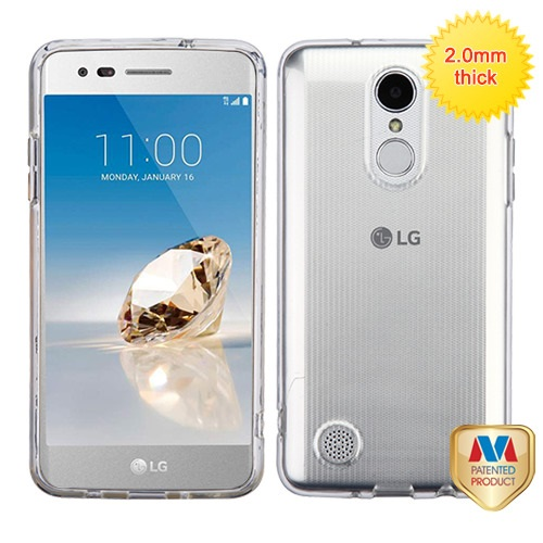 For LG Rebel K4 K8 Fortune Glassy SPOTS TPU Rubber Candy Skin Phone Case Cover