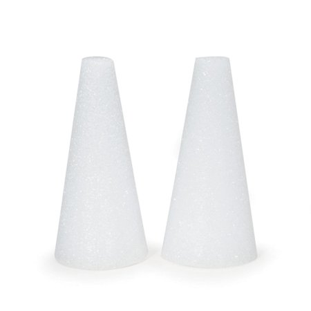 FloraCraft White Styrofoam Cone, 6 x 3 inches, 2 Pieces](Styrofoam Cube)
