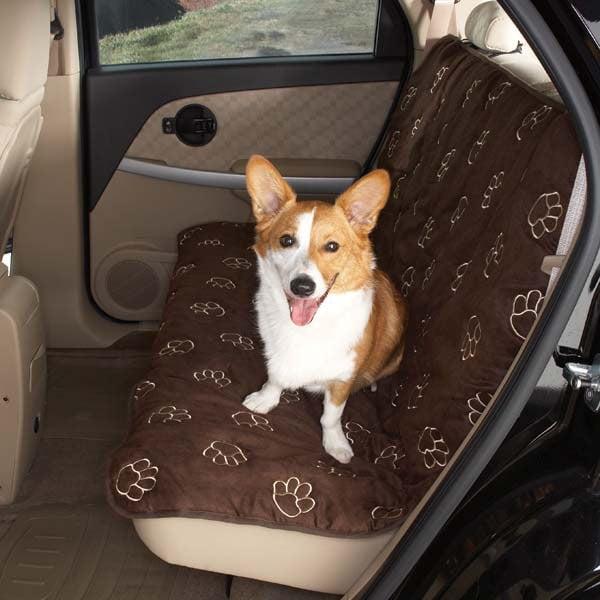 Guardian Gear Pawprint Car Seat Cover Brn