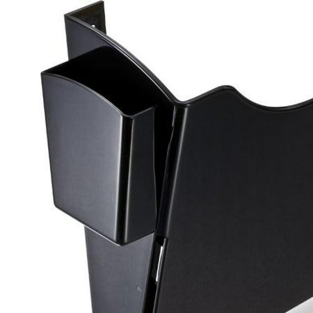 Officemate Grande Central Filing System with Starter Pocket Plus 6 Add-On Pockets - Black (21726)