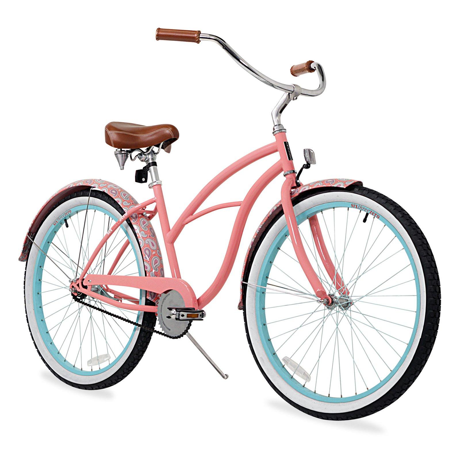 Sixthreezero 26 in. Womens Paisley Beach Cruiser Bike