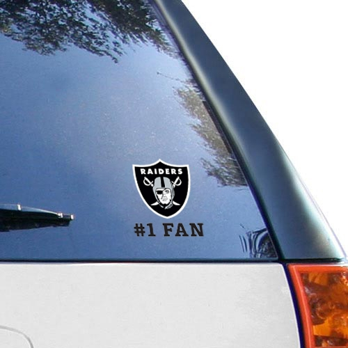 "Oakland Raiders WinCraft #1 Fan 3"" X 4"" Multi-use Decal - No Size"