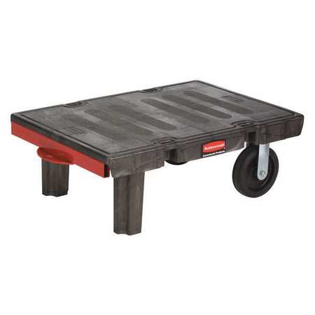 Rubbermaid Commercial Products 12.5'' x 24.25'' x 50'' Semi Live Skid Jacks Handle Platform Dolly