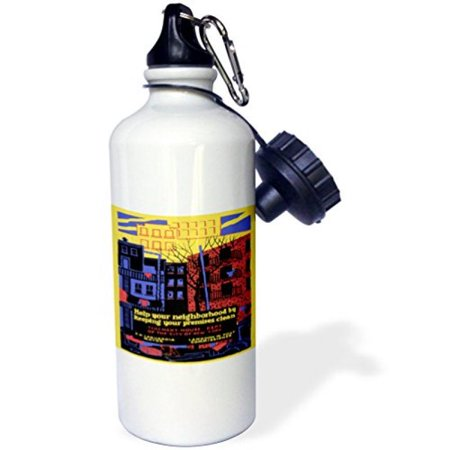 3dRose Tenement House Dept NYC Help you Neighborhood by Keeping Clean, Sports Water Bottle, 21oz (Nrc Sports)