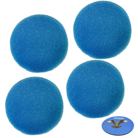 HQRP 4-Pack Blue Media Filter Pad / Canister Filter for Eheim Classic 2217 / 600 Replacement + HQRP Coaster