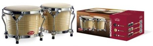 Stagg BW200N Bongos in Natural Finish by Stagg
