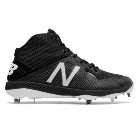 d6fff272d4e59 New Balance M4040V4 Baseball Cleat Mid - Black - Walmart.com