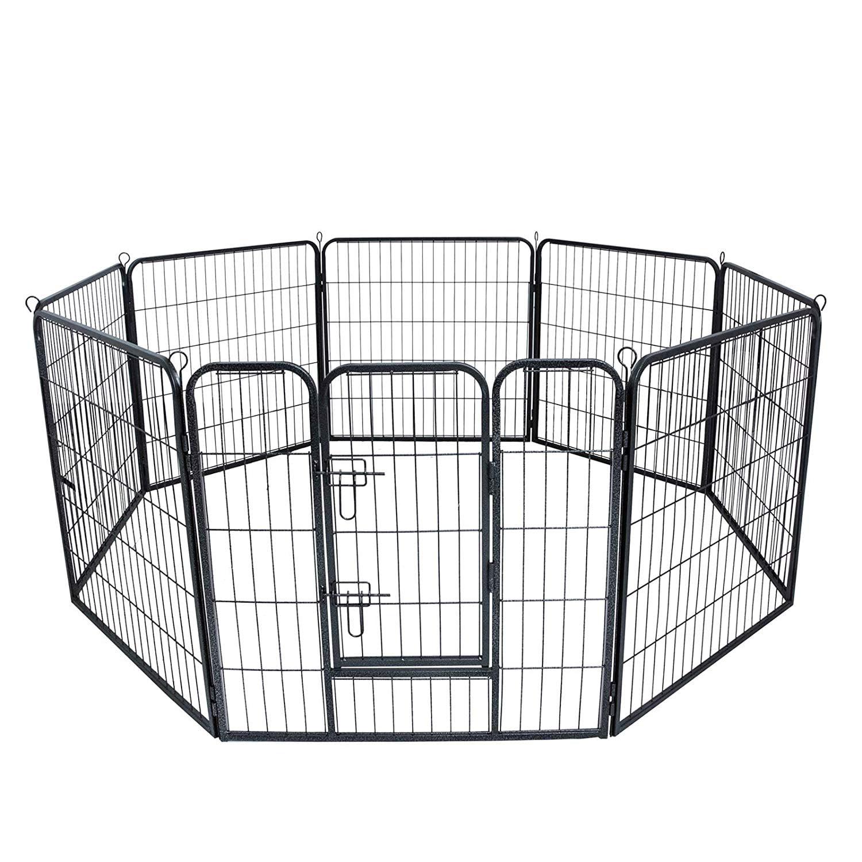 Suncoo Metal Large Pet Dog Fence Heavy Duty Animal Pen