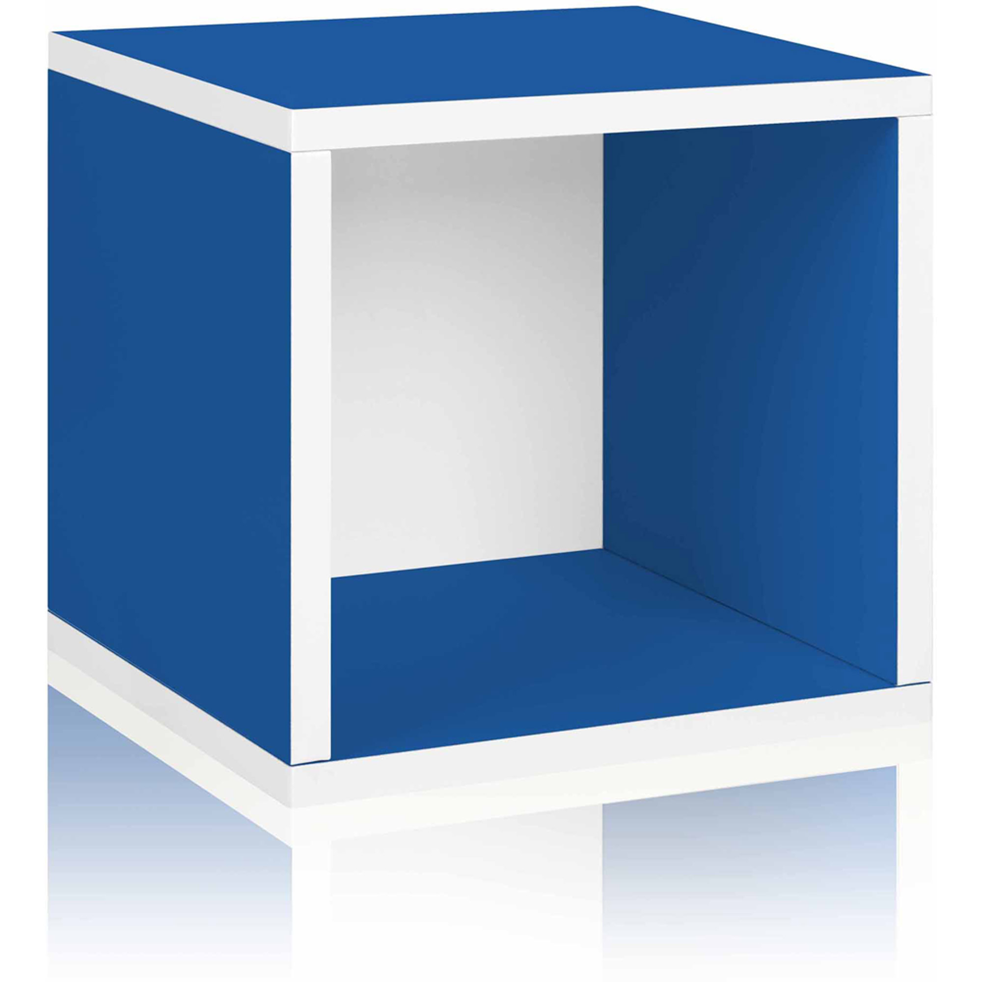 Way Basics Eco Stackable Storage Cube and Cubby Organizer, Blue