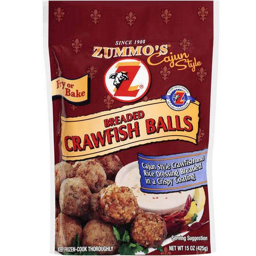 Zummo's Cajun Style Breaded Crawfish Balls, 15 oz