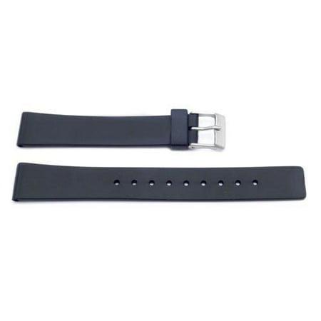 Black Plastic 18mm Replacement Watch Strap Black Carbon Fiber Watch Band