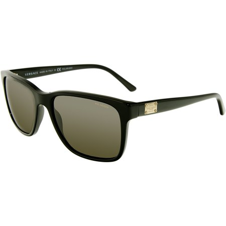 b7528f85b573 Versace - Versace Men s Polarized VE4249-GB1 81-58 Black Rectangle  Sunglasses - Walmart.com