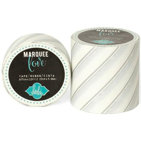 "Heidi Swapp Marquee Love Washi Tape 2""-Silver Foil Pinstripe, 9' - image 1 of 1"