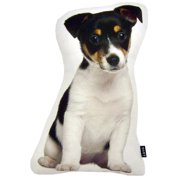 "lava Jack Russell Puppy Shaped Pillow, 13"" x 7"""
