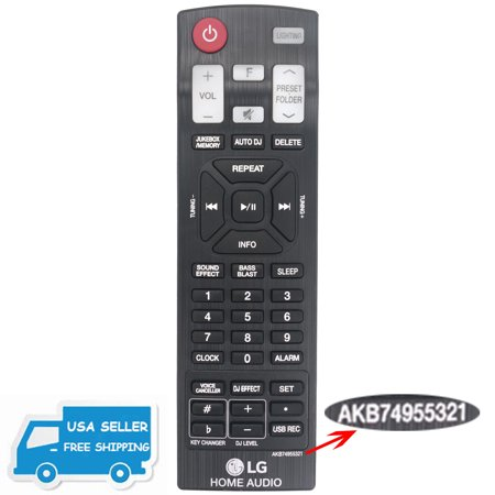 US New AKB74955321 Remote Control for LG FH6 Home Audio System US New AKB74955321 Remote Control for LG FH6 Home Audio System condition: New Model: AKB74955321Modified Item: NoCustom Bundle: NoCompatible Brand: For LGBatteries Included: NoType: Home Audio RemoteMPN: Does Not ApplyWireless Range: 5-10 mBrand: Unbranded/GenericNon-Domestic Product: NoManufacturer Color: BlackFeatures: InfraredCompatible Model: FH6Code : 71e-676086000264029
