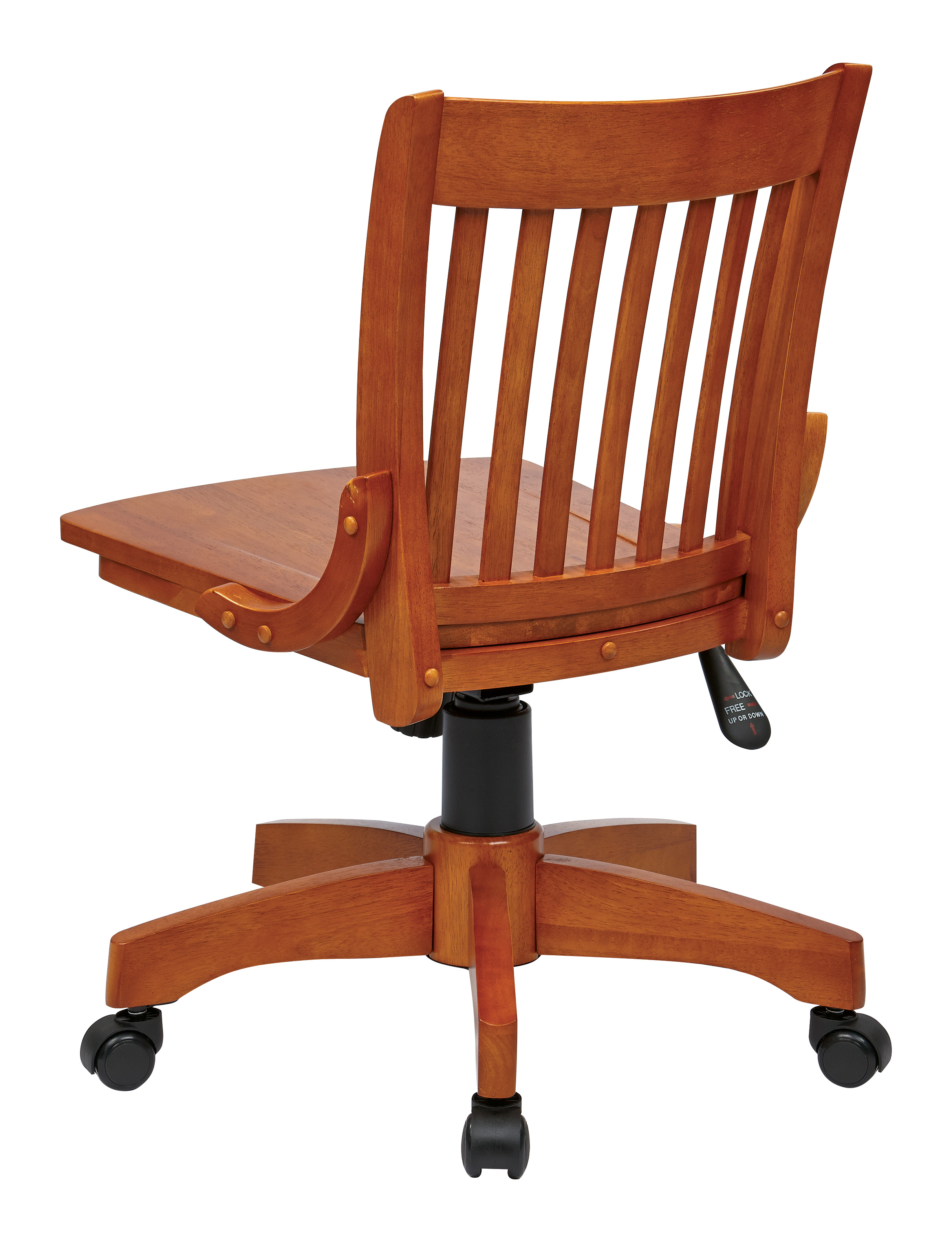Strange Office Star Deluxe Armless Bankers Desk Chair With Wood Seat Machost Co Dining Chair Design Ideas Machostcouk