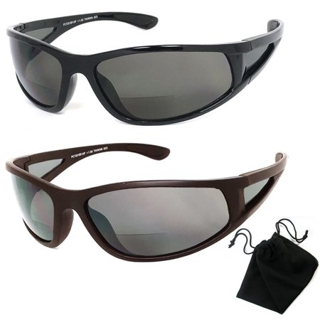 fde05d3ec768 Polarized Bifocal Sunglasses Womens Men Fishing Reading Black 1.50 2.00  2.50 New - Walmart.com
