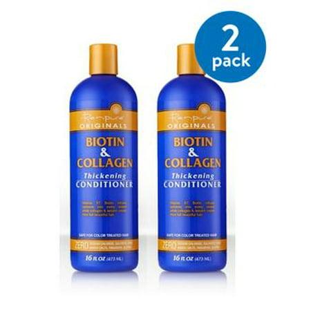 Renpure Originals Biotin & Collagen Thickening Conditioner, 16 fl oz (Pack of