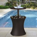 Keter 7.5 Gal. Outdoor Cool Patio Bar Table