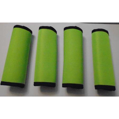 Luggage Handle Wrap - LOOK! Marketing, Inc Super Grabber Lime Green Neoprene 4-piece Handle Grip Luggage Spotter Set