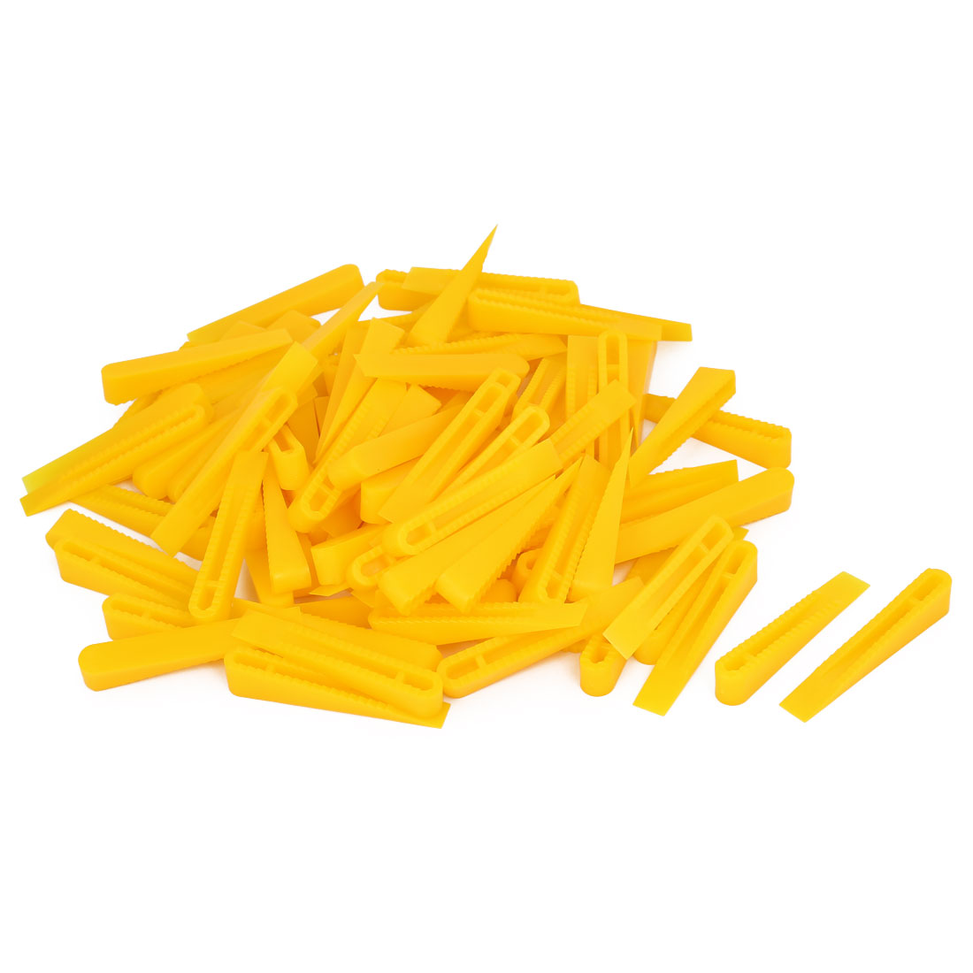 Wall Floor Tile Flat Leveling System Balance Wedges Yellow 58mmx9mmx10mm 100pcs