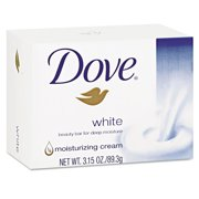 Dove CB614243 Moisturizing Bar Soap, Pleasant Scent, 3.15oz, 48/carton