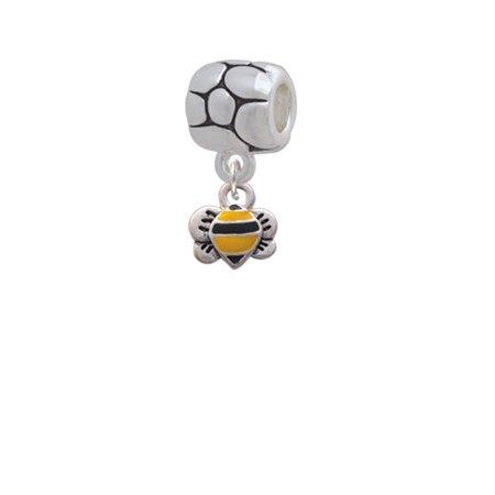 Mini Bumble Bee - Pebble Charm Bead - Bee Charms