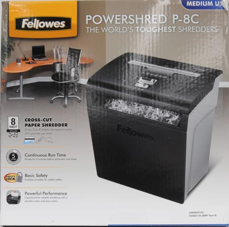 Fellowes P-8C Cross-Cut Paper Shredder