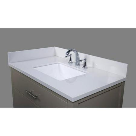 Tremendous Renaissance Vanity Thassos 37 Single Bathroom Vanity Top Home Interior And Landscaping Ologienasavecom
